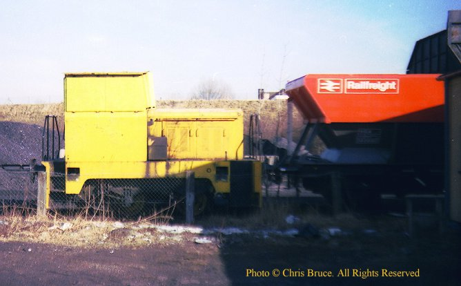 The shunter was normally stabled here, usually out of sight behind Beaufort Air Sea Equipment.